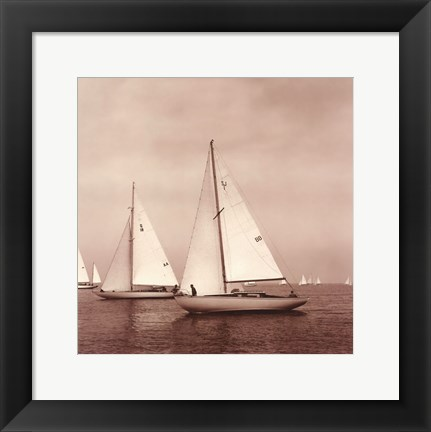 Framed Sailing VI Print