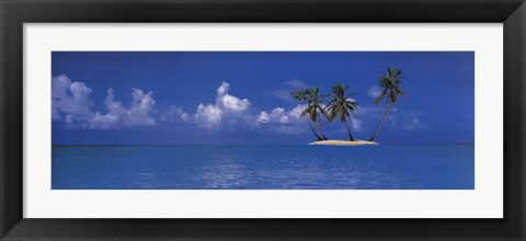Framed Tropical Island Print