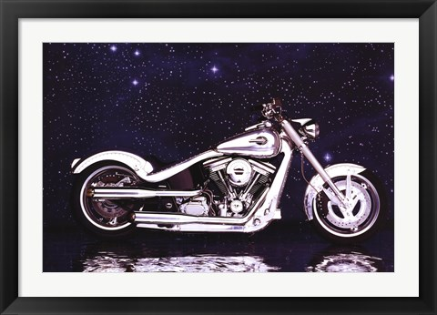 Framed Motorcycle - Radical Custom Big Twin Sof Print