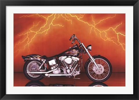 Framed Motorcycle - Custom, 1997 Print