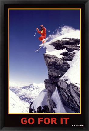 Framed Go For It - Extreme Sport Print