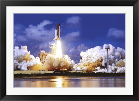Framed Space Shuttle Take Off Print
