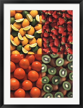 Framed Fruits the Colours of Nature Print