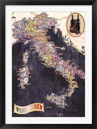 Framed Wines of Italy Print
