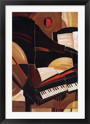 Framed Abstract Piano Print