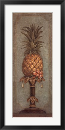 Framed Pineapple and Pearls I Print