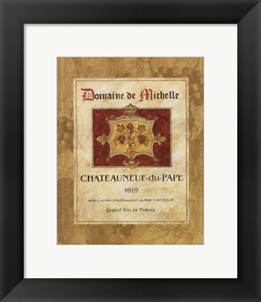 Framed Chateauneuf du Pape Print