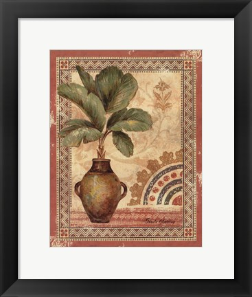 Framed Fresco Palm IV Print