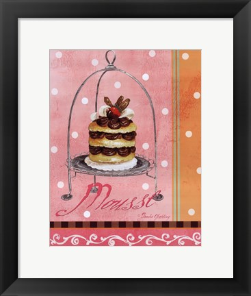 Framed Pink Mousse Print
