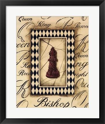Framed Chess Bishop Print