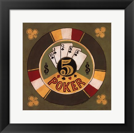 Framed Poker - $5 Print
