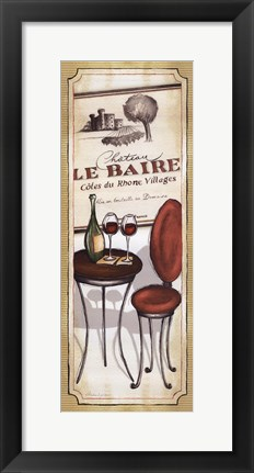 Framed Vin Rouge Print