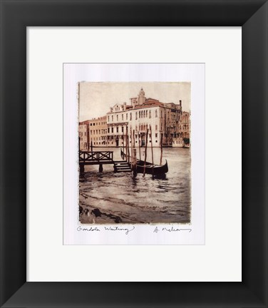 Framed Gondola Waiting Print