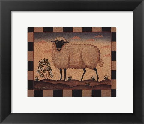 Framed Farm Sheep Print