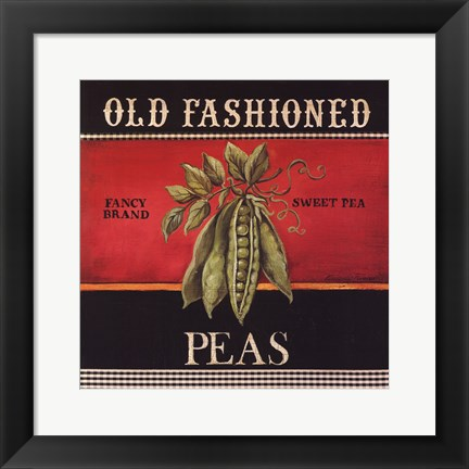 Framed Old Fashioned Peas Print