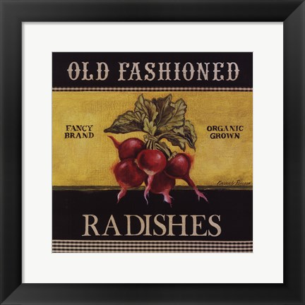 Framed Old Fashioned Radishes Print