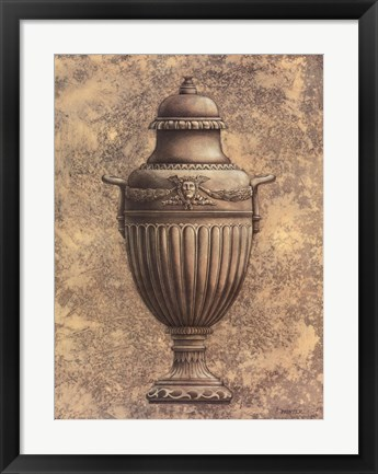 Framed Classical Urn Series 1-B Print