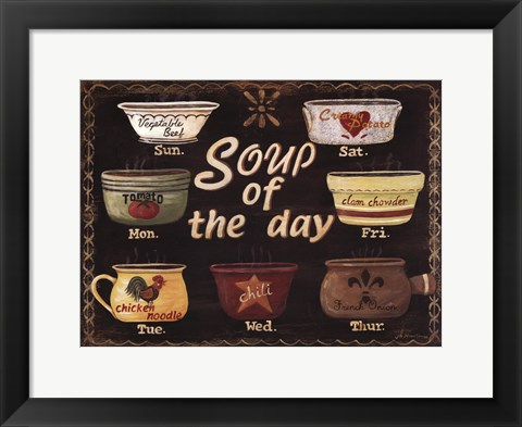 Framed Soup of the Day Print
