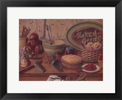 Framed Baked Goods Print