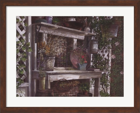 Framed Take Me Home Country Rose Print