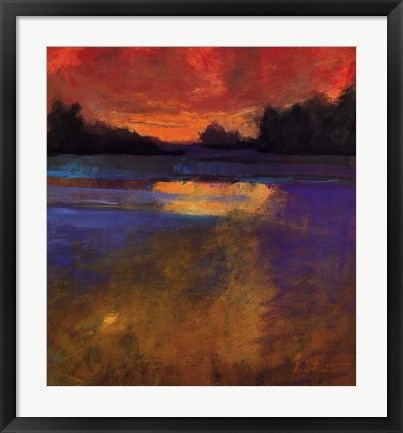 Framed Sunset Lake Print