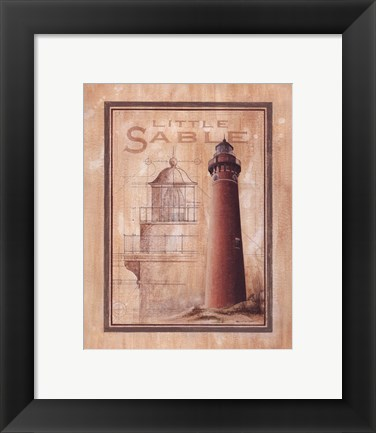 Framed Little Sable Lighthouse Print