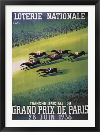 Framed Loterie Nationale Print