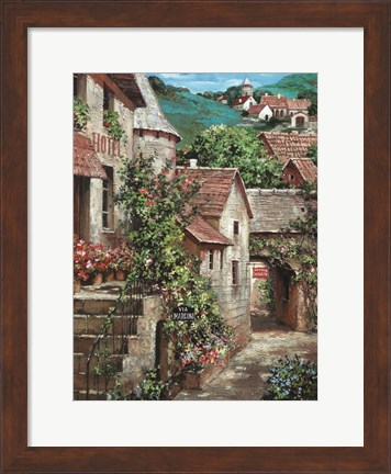 Framed Italian Country Village I Print