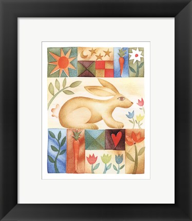Framed Rabbit Quilt Print