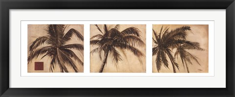 Framed Sepia Trees Print