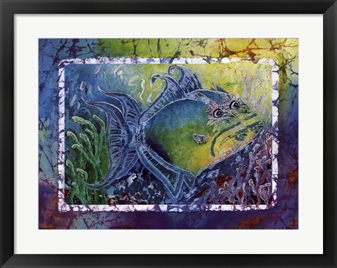 Framed Twin Triggerfish Print