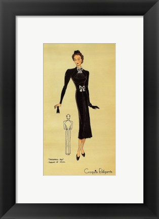 Framed Ladies Fashion II Print