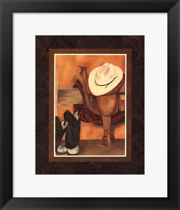 Framed Hat and Saddle (HI) Print