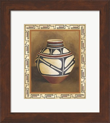 Framed Southwest Pottery I Print