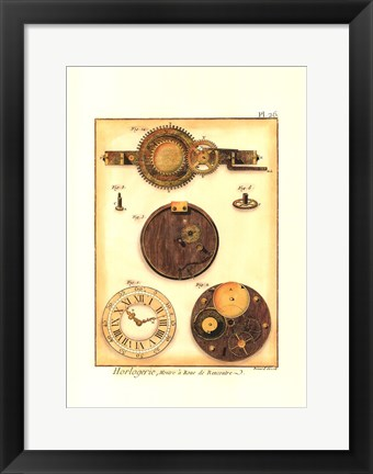 Framed Clock is Ticking II Print