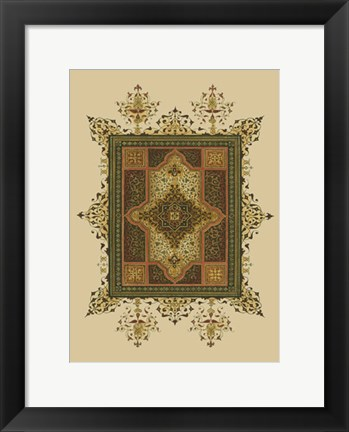 Framed World Bazaar Pattern (WG) I Print