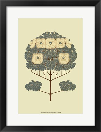 Framed Arts and Crafts Tree II Print