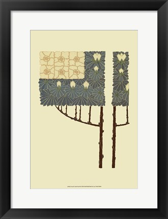 Framed Arts and Crafts Tree III Print