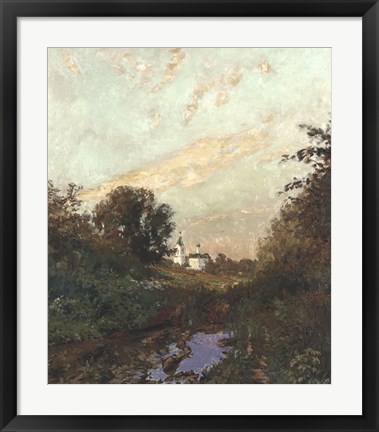 Framed Road to the Church Print
