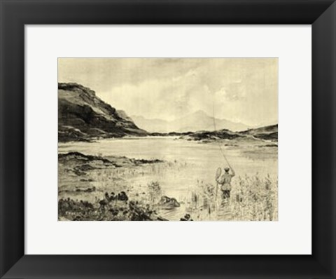 Framed On the River II Print