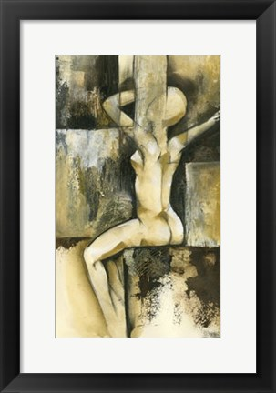 Framed Contemporary Seated Nude II Print