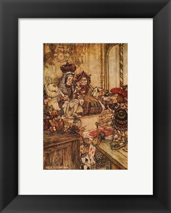 Framed Who Stole The Tarts Print