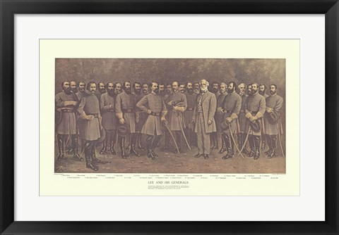 Framed Robert E. Lee and his Generals Print