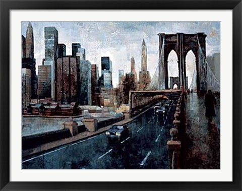 Framed Manhattan Without You Print