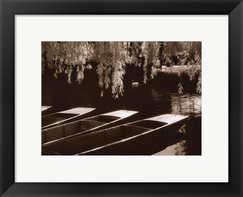 Framed Punts on the River Cam, Cambridge Print