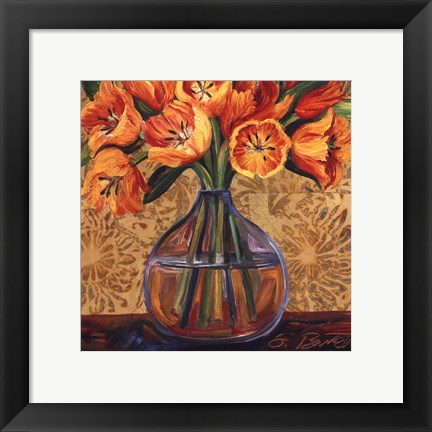 Framed Golden Tulips Print