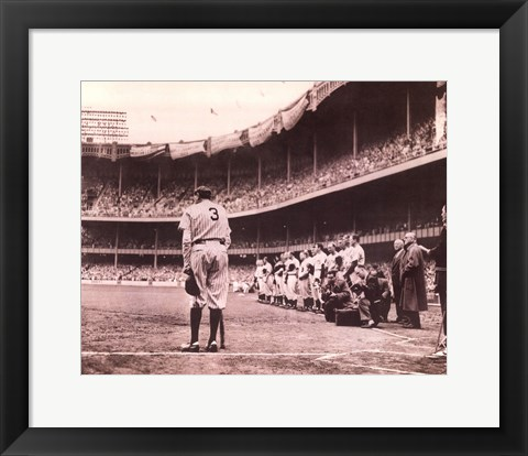 Framed Babe Bows Out, c.1948 Print