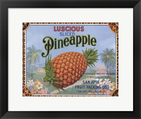 Framed Luscious Pineapple Print
