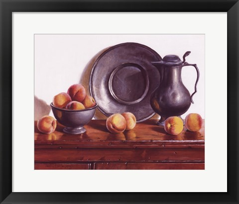 Framed Peaches & Pewter Print
