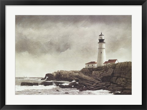 Framed Portland Light Print